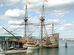 The Mayflower At Plymouth Massachusetts